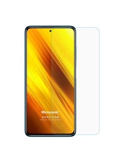 Microsonic Xiaomi Poco X3 Pro Nano Glass Cam Ekran Koruyucu Renksiz